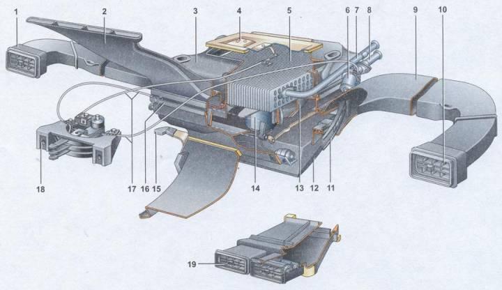 Как выглядит схема печки ВАЗ
